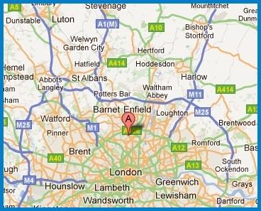 Map of where Alexandra Locksmith installs window grilles in London