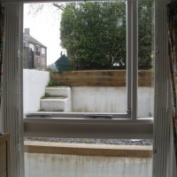 Collapsible window grille - open