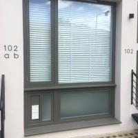 Window before having a grille fitted