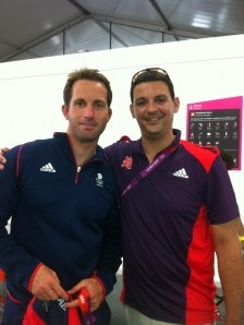 Paul from Alexandra Locksmiths with Team GB's Ben Ainslie at London 2012