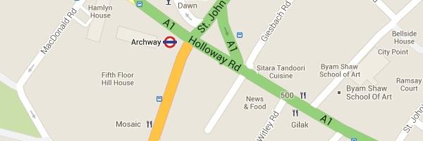Locksmith Archway - Map
