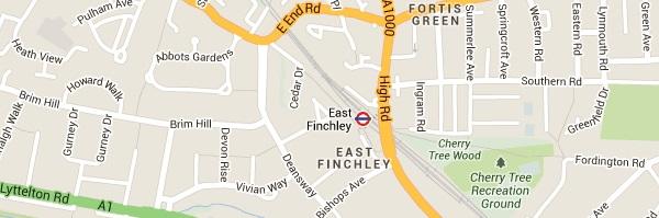 Locksmith East Finchley - Map
