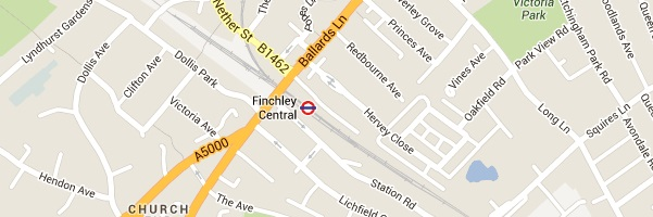 Locksmith Finchley Central - Map