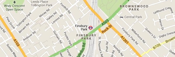 Finsbury Park Locksmith- Map
