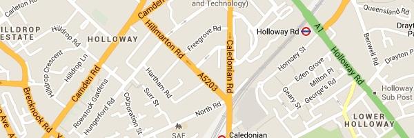Locksmith Holloway - Map