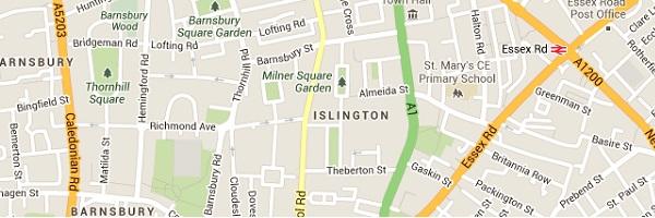 Islington Locksmith - Map