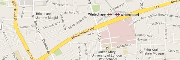 Map of Whitechapel London E1