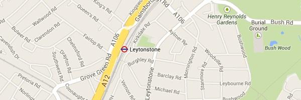 Map of Leytonstone London E11