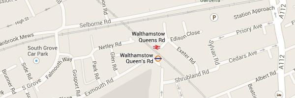 Map of Walthamstow - E17 Locksmith