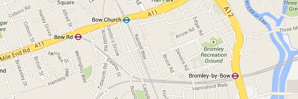 Map of Bow London E3