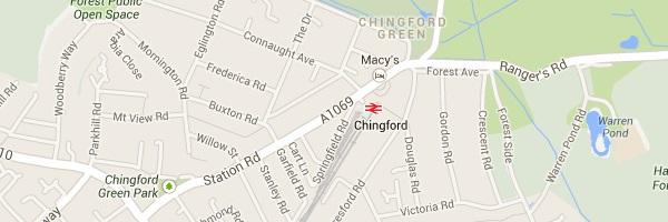 Map of Chingford London E4