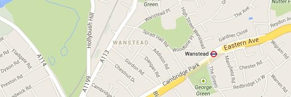 Map of Wanstead London E7