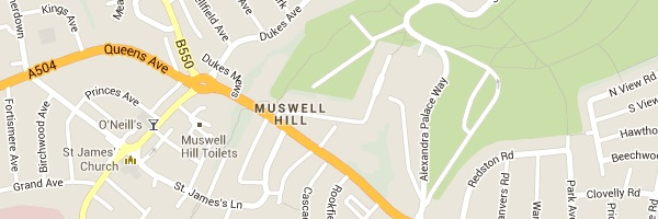 Locksmith Muswell Hill - Map