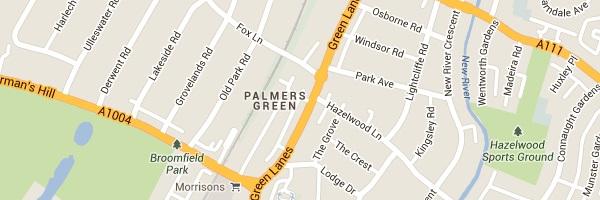 Locksmith Palmers Green - Map