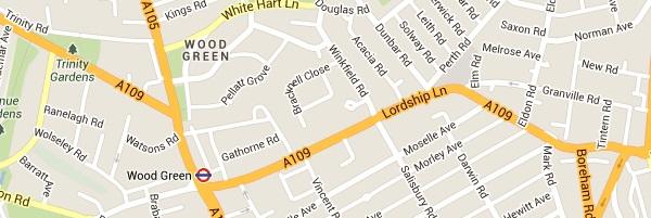Locksmith Wood Green - Map