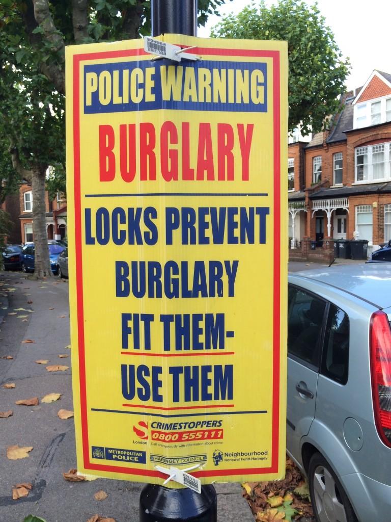 Help to prevent Burglary - Use all door locks